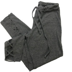 Chaser Medium Heather Gray Crisscross Lounge Pants